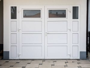 white pvc plastic garage door